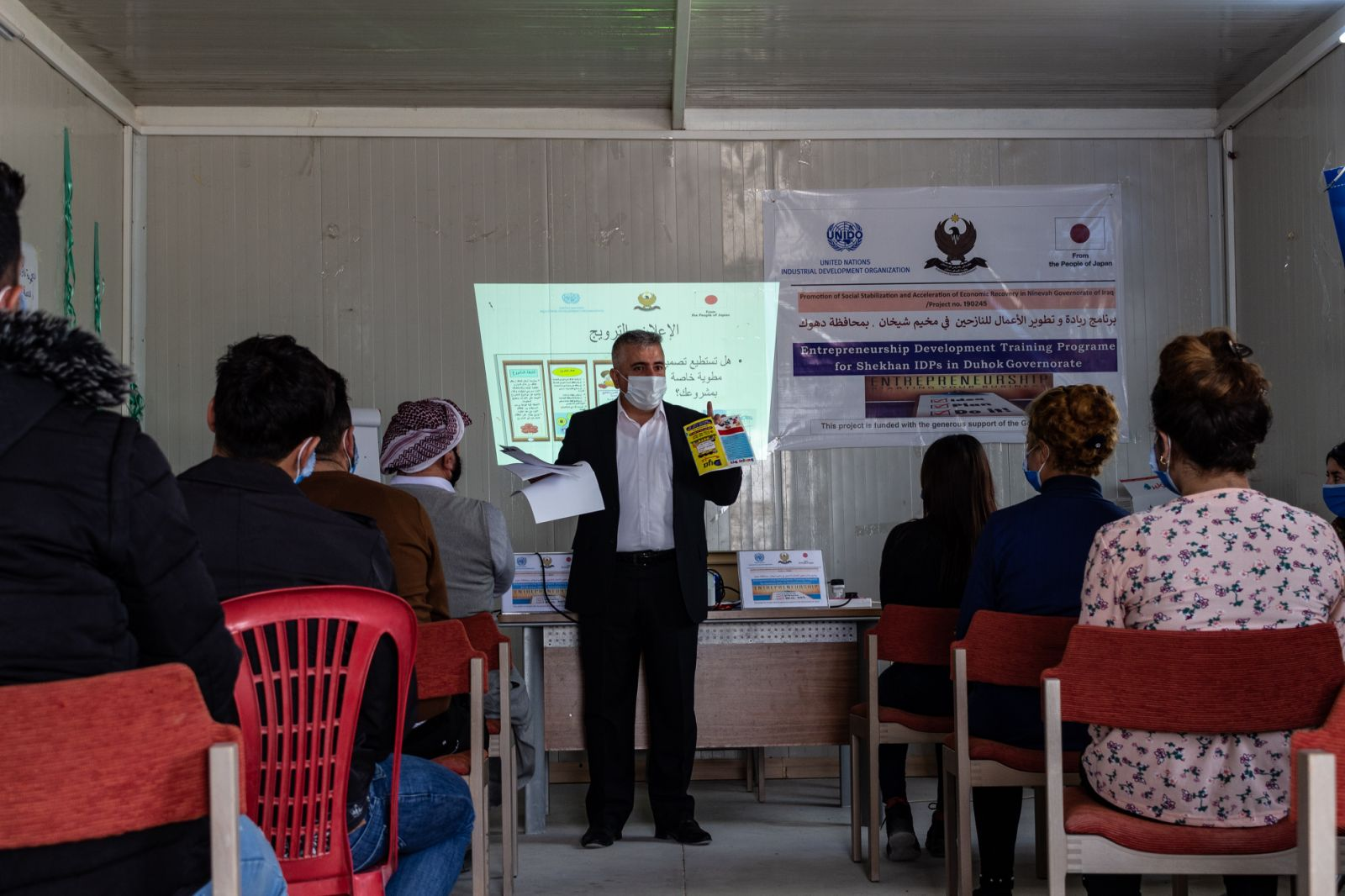 UNIDO entrepreneurial training gives IDPs hope for future