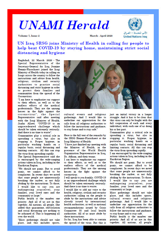 UNAMI Herald Volume 7, Issue 2