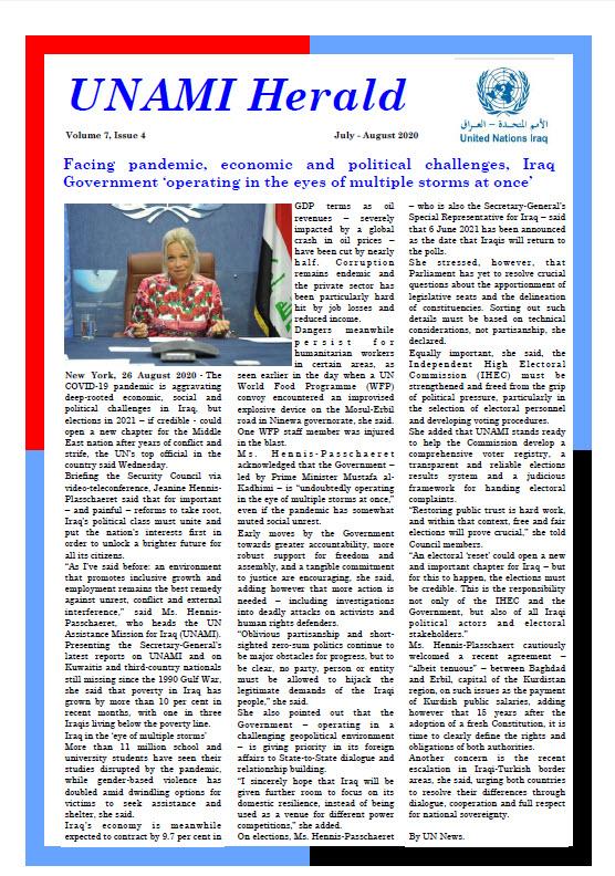 UNAMI Herald Volume 7, Issue 4