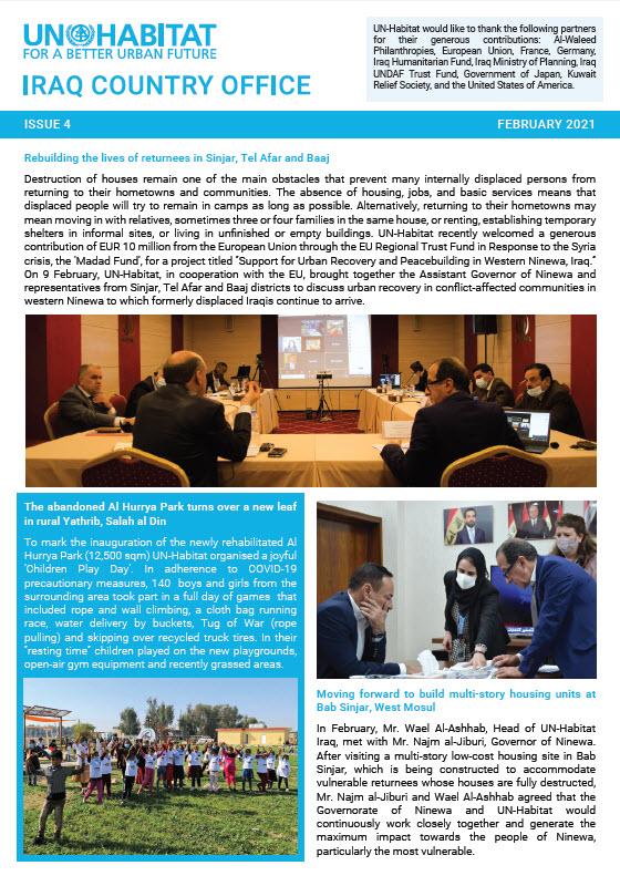 Rebuilding the lives of returnees in Sinjar, Tel Afar and Baaj | UN Habitat newsletter