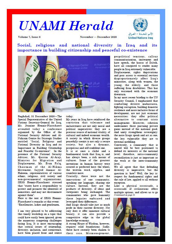 UNAMI Herald Volume 7, Issue 6