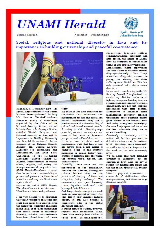 UNAMI Herald Volume 8, Issue 1