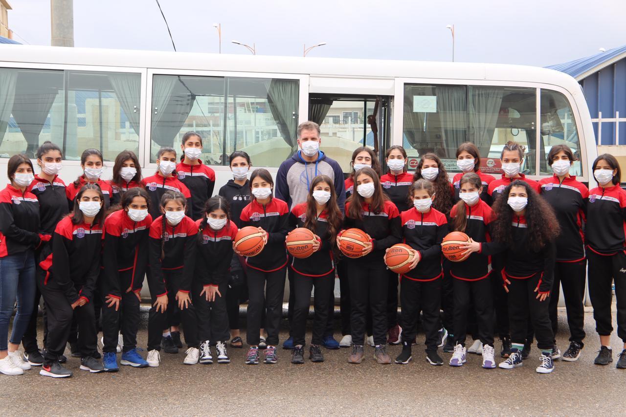 Zhima, an Iraqi female basketball academy
