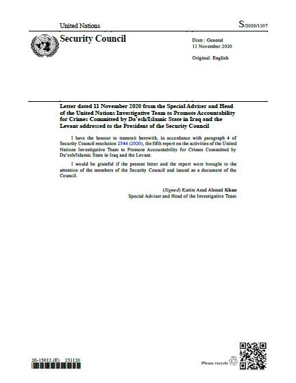 Report of the Secretary-General S/2020/1107   RSG