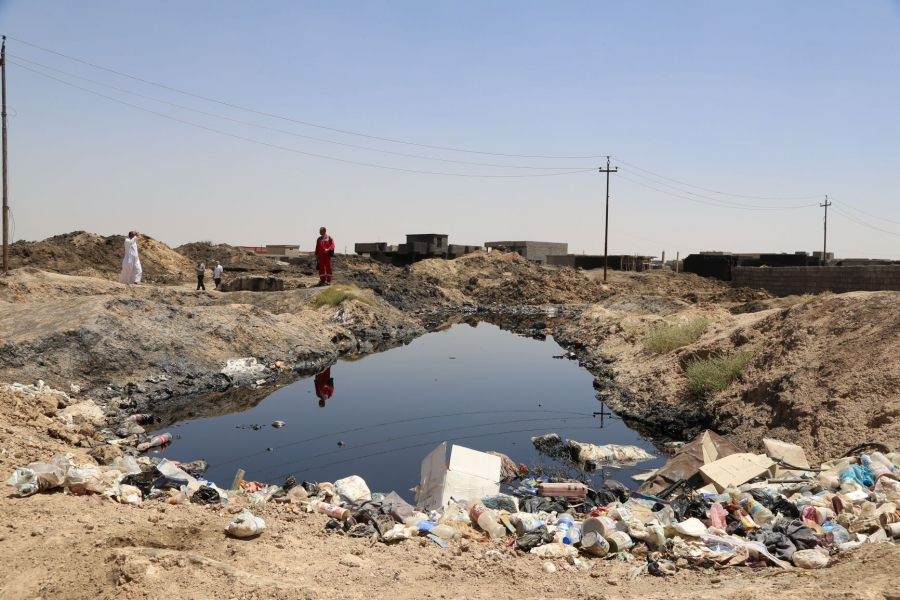 Crude impact: cleaning up ravages of war in Iraq