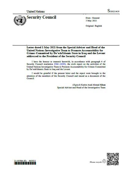Report of the Secretary-General S/2021/419   RSG