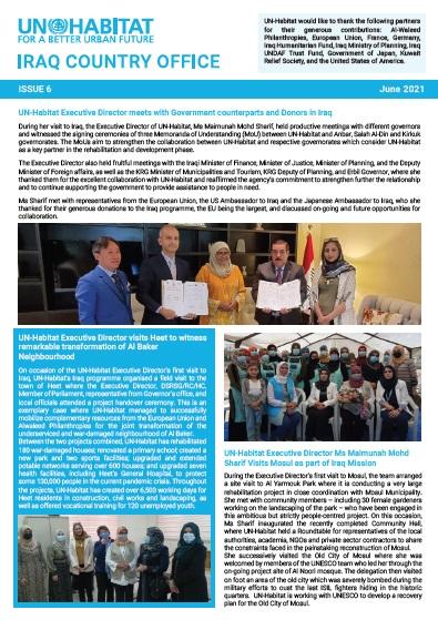 UN-Habitat Newsletter ISSUE 6 | June 2021