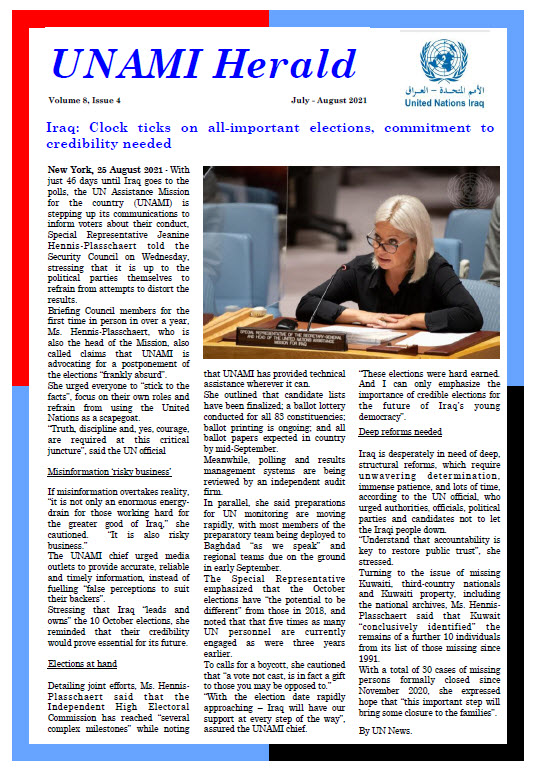 UNAMI Herald Volume 8, Issue 4