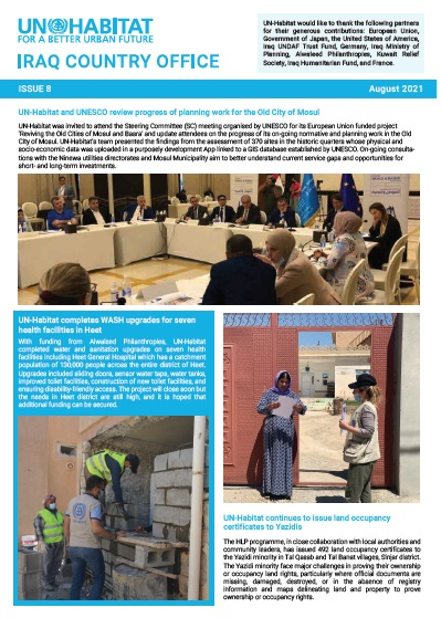 UN-Habitat Newsletter ISSUE 8 | August 2021