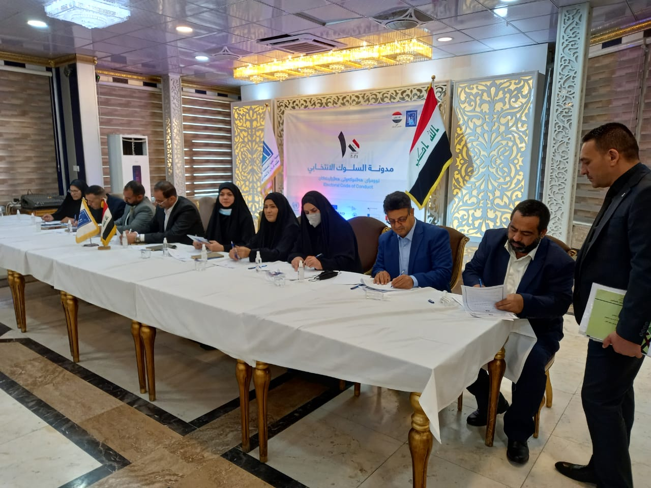 Iraq's political parties and independent candidates sign Electoral Code of Conduct as campaigns intensify