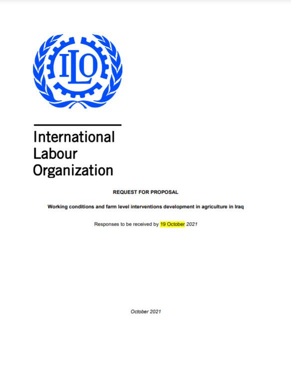 REQUEST FOR PROPOSAL | ILO