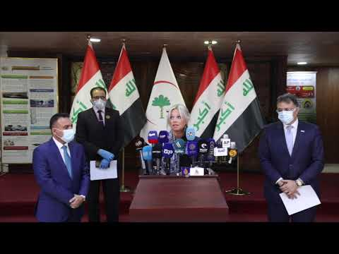 UN Iraq Special Rep. Jeanine Hennis-Plasschaert remarks | Iraq Ministry of Health Press Conference