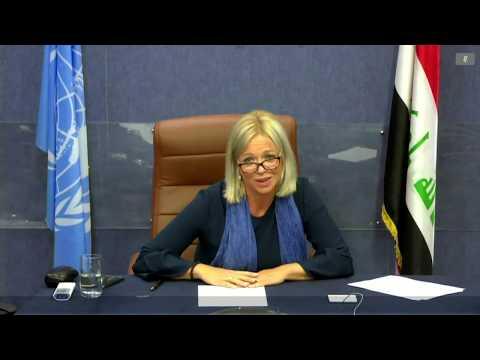 Briefing by SRSG Jeanine Hennis-Plasschaert at the UN SC open VTC on Iraq